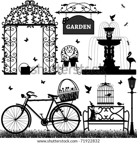 Garden Park Outdoor Recreational - stock vector