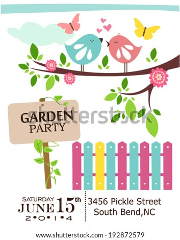 Garden party - stock vector