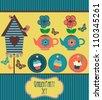 garden party cute collection. vector illustration - stock vector