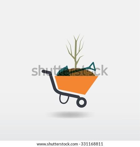 Garden tools. Environmental activities. Gardening icons . - stock vector