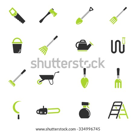Garden tools simply symbol for web icons - stock vector
