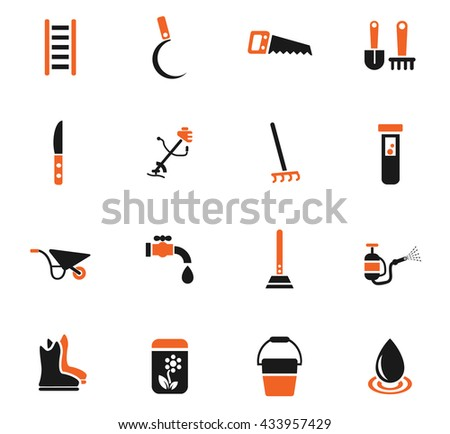 garden tools web icons for user interface design - stock vector