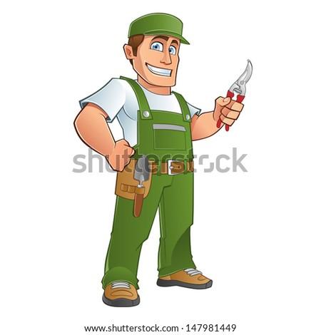 gardener - stock vector