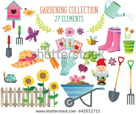 Garden Design Elements gardening icons set design elements garden stock vector 557579896