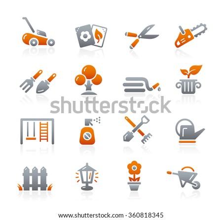 Gardening Icons // Graphite Series - stock vector