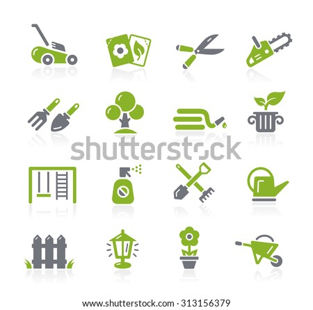 Gardening Icons // Natura Series - stock vector