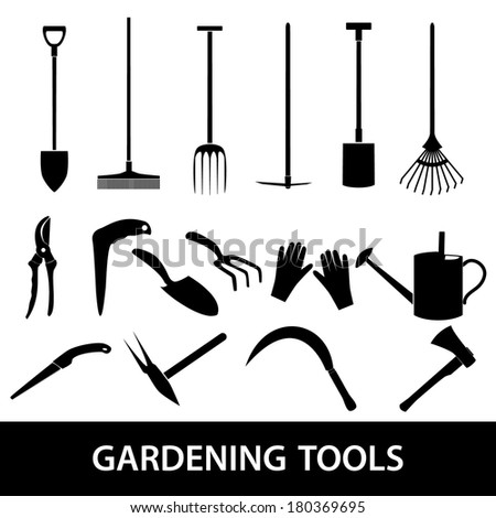 gardening tools icons eps10 - stock vector