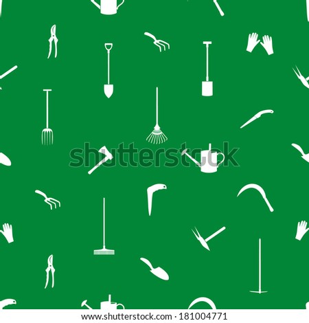 gardening tools pattern eps10 - stock vector