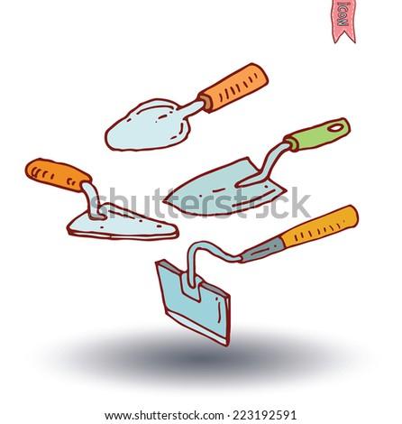 Gardening tools , vector illustration. - stock vector