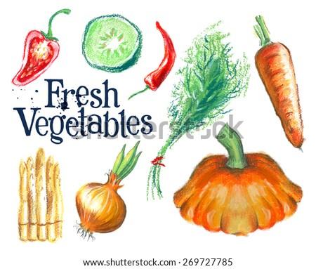 gardening vector logo design template.  fresh food or ripe vegetables icon. - stock vector