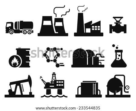 Gas and Oil icons set // 02 - stock vector