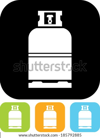 Gas bottle vector icon - stock vector