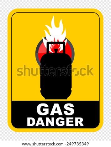GAS, DANGER - stock vector