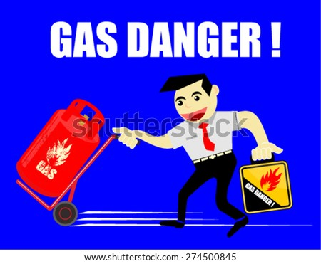 GAS DANGER - stock vector