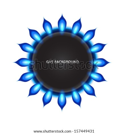 gas flame background - stock vector