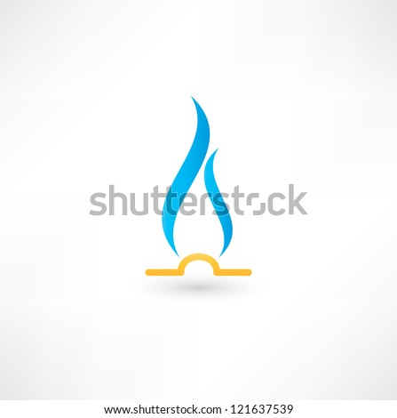 Gas Flame Icon - stock vector