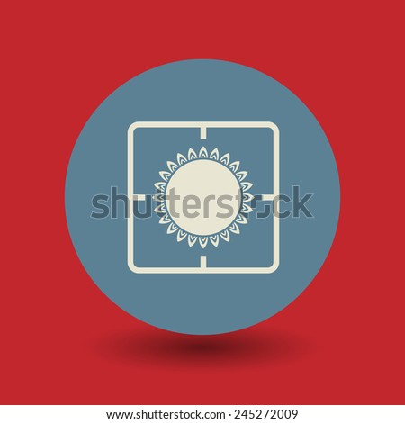 Gas flame icon or sign, vector illustration - stock vector