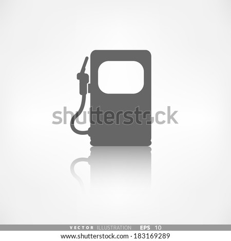 Gas, fuel station icon - stock vector
