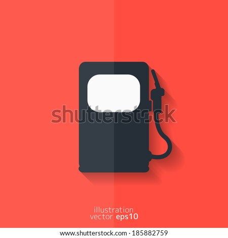 Gas, fuel station icon. Flat design. - stock vector