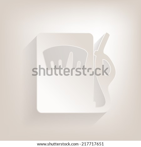 Gas, fuel station Icon with shadow - stock vector
