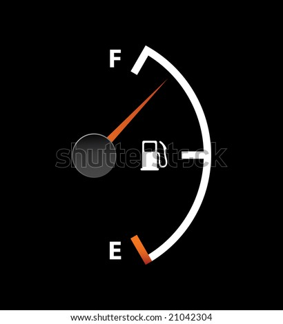 gas full meter vertical mode - stock vector
