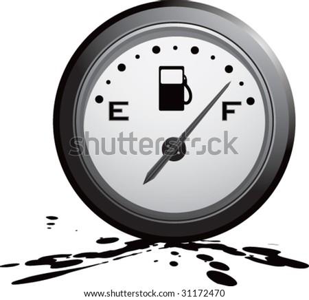 gas gauge on mud - stock vector