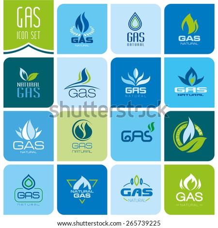 Gas industry symbols - stock vector
