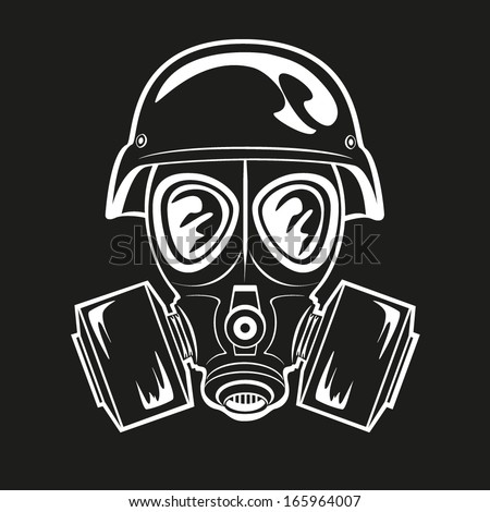 how to draw a gas mask soldier