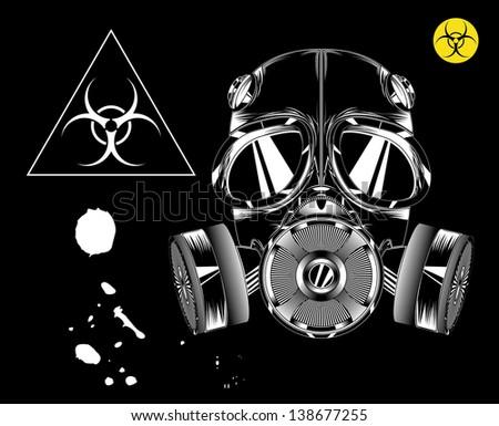 Gas mask. biohazard - stock vector
