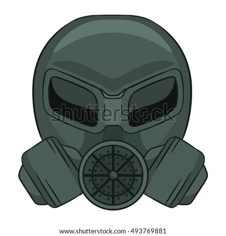 gas mask cartoon on white background stock vector hd royalty free rh shutterstock com black gas mask cartoon gas mask cartoon images