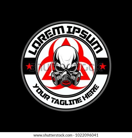 Gas Mask Skull Biohazard Vector Logo Stock Vector (2018) 1022096041 ...