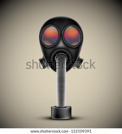 Gas mask, vector. Esp10 - stock vector