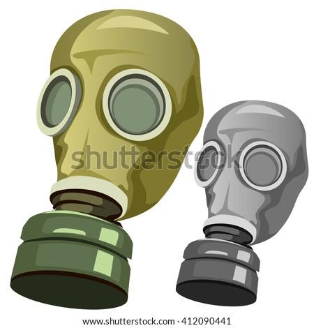 Gas mask. Vector illustration. - stock vector