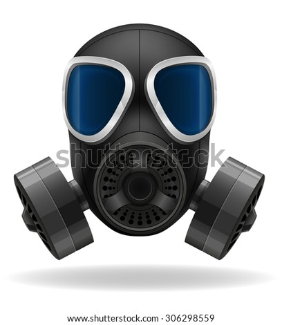 gas mask vector illustration isolated on white background