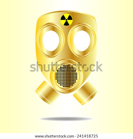 Gas Mask with Radioactive  - stock vector
