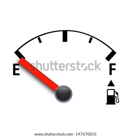 gas meter - stock vector