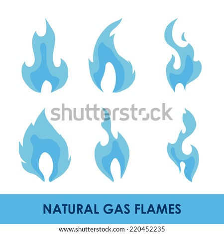 gas natural graphic design , vector illustration