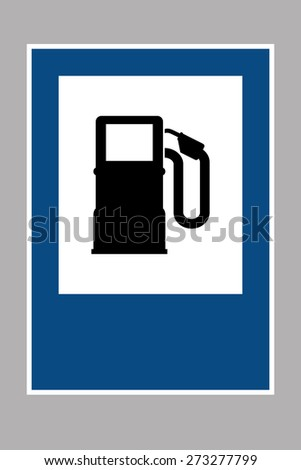 Gas Petrol Station Sign - stock vector