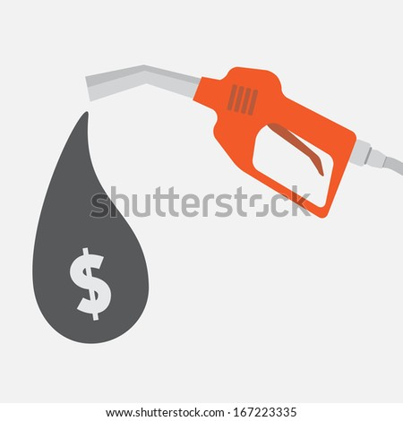 Gas pump - stock vector
