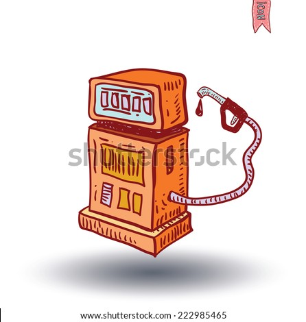 gas pump Electricity icon - vector illustration - stock vector