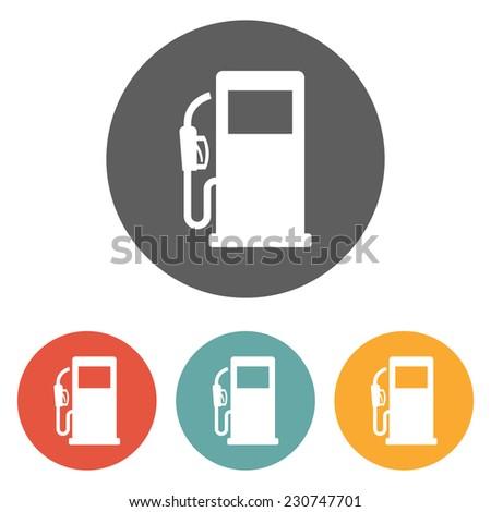 gas pump icon - stock vector