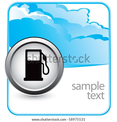 gas pump icon cloud banner - stock vector