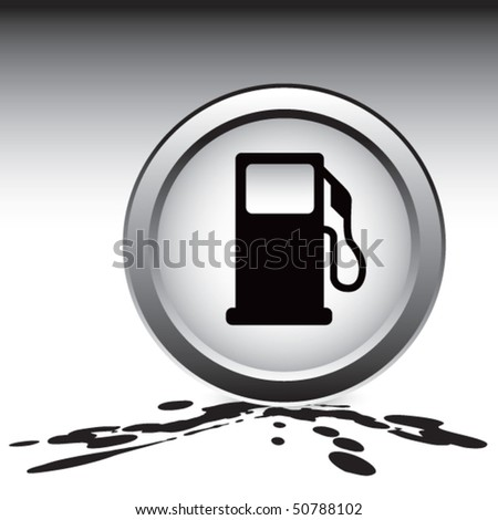 gas pump icon on oil - stock vector