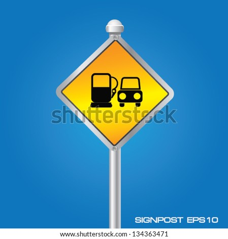 Gas Pump signpost,vector