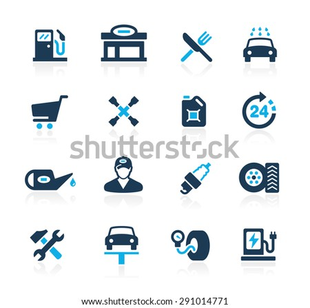 Gas Station // Azure Series - stock vector