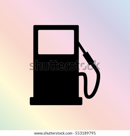 gas station  - black vector icon