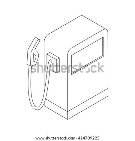 Gas station icon, isometric 3d style  - stock vector
