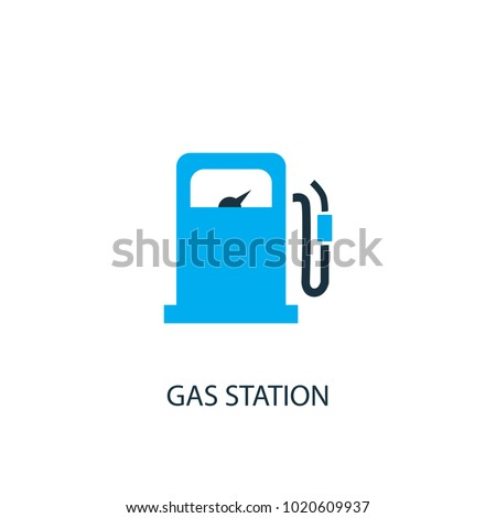 Gas Station Icon Logo Element Illustration Stock Vector 1020609937