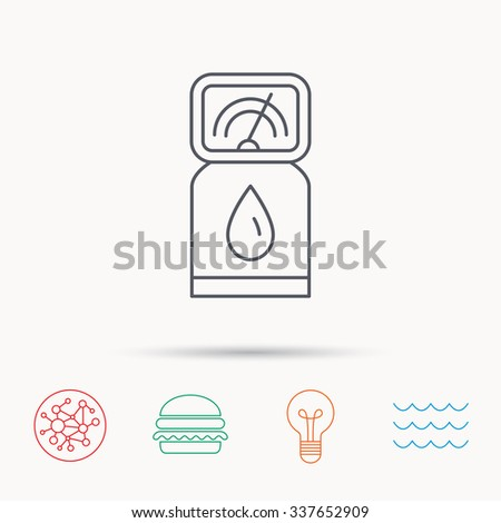 Gas station icon. Petrol fuel pump sign.  - stock vector