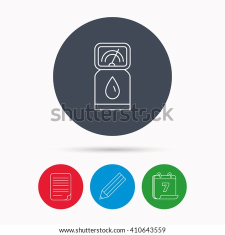 Gas station icon. Petrol fuel pump sign. Calendar, pencil or edit and document file signs. Vector - stock vector